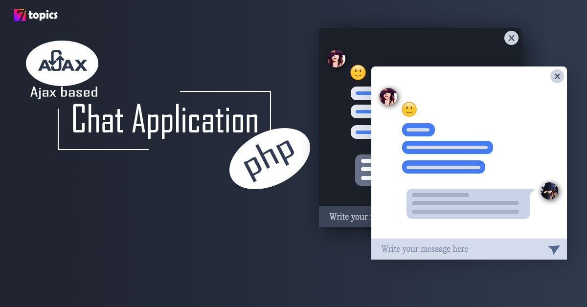 How to build Ajax based chat application in PHP
