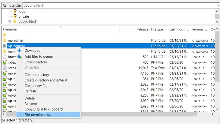 FileZilla File Access