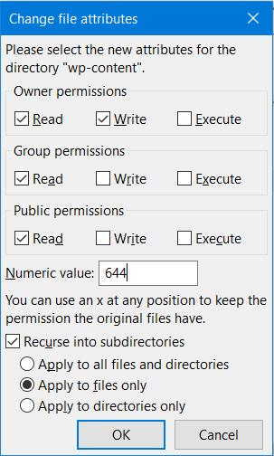 Set file Permission