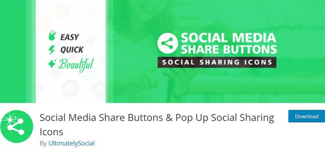 Social Media Share Buttons & Pop Up Social Sharing Icons