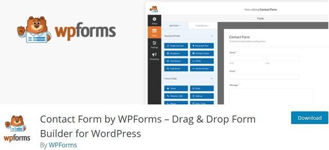 WPForm drag & drop form builder